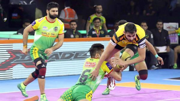 PKL 2019 : கடைசி நிமிடம்.. பம்மிப் பதுங்கி ஆடி போட்டியை டை செய்த இரு அணிகள்!