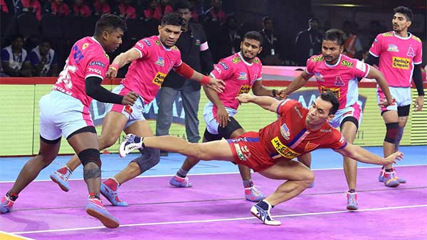 Pro Kabaddi League 2019 : Jaipur Pink Panthers vs Dabang Delhi 73rd match result