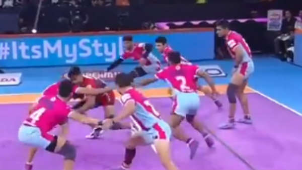 PKL 2019 : தொடர்ந்து 5வது வெற்றி.. உபி யுத்தா அணி மிரட்டல்.. ஜெய்ப்பூர் அணி போராடி தோல்வி!