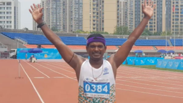 srivilliputhur si wins gold medal in race walk tournament