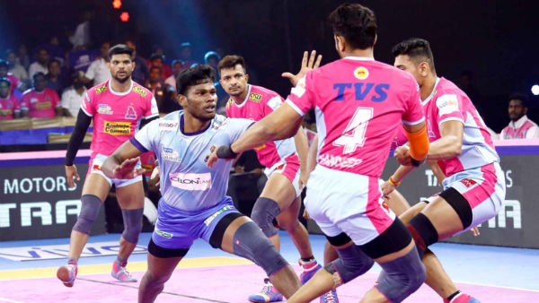 Pro Kabaddi League 2019 : Tamil Thalaivas vs Jaipur Pink Panthers 127th match result
