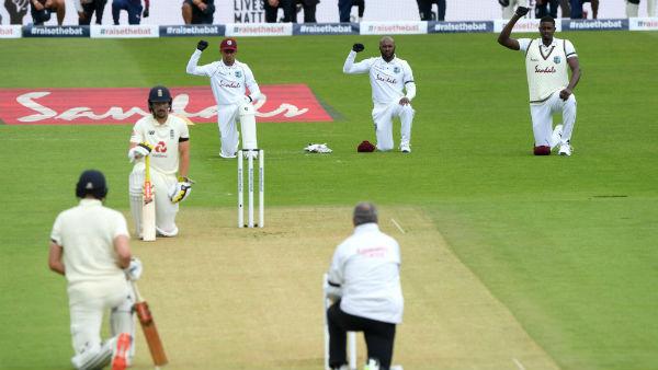 இங்கிலாந்து -மேற்கிந்திய தீவுகள் தொடர் : பிளாக் லைவ்ஸ் மேட்டருக்காக ஒருங்கிணைந்த அணிகள்