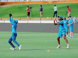 Team India Undergo Light Practice Session Melbourne