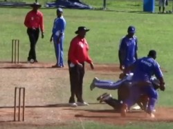 Video Cricket Match Turns Into Wrestling Kickboxing Contest