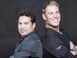 A First Cricketers Tendulkar Warne Ring Opening Bell At New