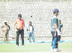 Protection From Big Hits Indian Umpire Wears Helmet During Match