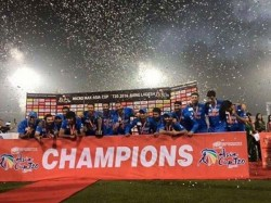 India Win 6th Asia Cup Title Ms Dhoni Equals Azharuddins 2 Tittles Record