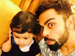 Virat Kohli Posts Selfie With Dhons Daughter
