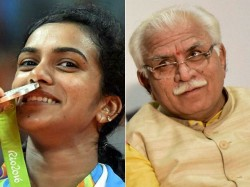 Haryana Cm Forgets Pv Sindhu S Name State