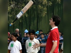 Canadian Prime Minister Justin Trudeau Plays Cricket Delhi