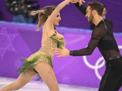 French Ice Dancer Has Wardrobe Malfunction Korea Olympics