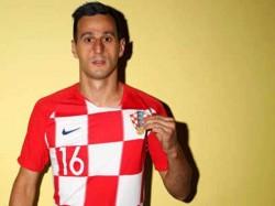 Croatian Player Kalinic Dejected