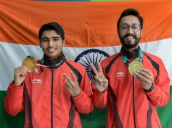 India Bags Gold Bronze Same Game 10m Air Pistol Shooting
