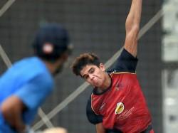 Arjun Tendulkar Bowls Indian Batsman Nets