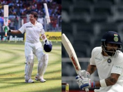 Kohli Sachin Both Hits 103 Runs 197 Balls Test Match Against