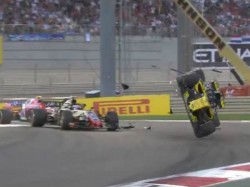 Nico Hulkenberg Was Left Hanging A Horrifying Crash At The Abu Dhabi Grand Prix