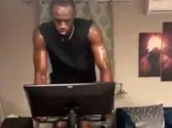 Usain Bolt Still Working Under Lot Sweat