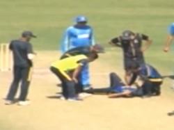 Ashok Dinda Hit On Face A Shot During Practice Game