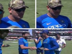 Indian Team Wears Army Camouflage Caps Donates Match Fee National Defence Fund