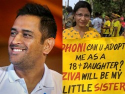 Girl Fan S Cute Message To Dhoni In Live Match Against Kolka In Ipl Season