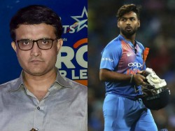 India Misses Rishabh Pant In Icc World Cup Says Former Captain Ganguly