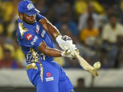 Ipl 2019 Mi Vs Csk Kireon Pollard Showed Dissent At Umpire Decision And Was Fined