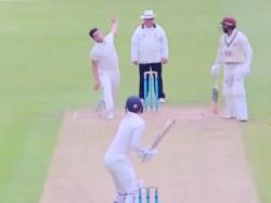 Arjun Tendulkars Stunning Wicket Against Surrey