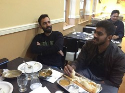 Indian Cricket Players Dinesh Karthik Vijay Shankar Enjoying In Chennai Dosa Kadai