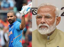 Cricket World Cup 2019 Pm Narendra Modi Wishes Shikar Dhawan For His Speedy Recovery