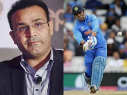 Ind Vs Wi Cricket World Cup 2019 Sehwag Slams Dhoni S Slow Batting After Sachin