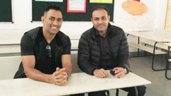 Former Player Sehwag Wishes Dhoni For His Birthday