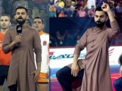 Indian Skipper Virat Kohli Styled Like Famous Tamil Actor Vijay In Pro Kabaddi League