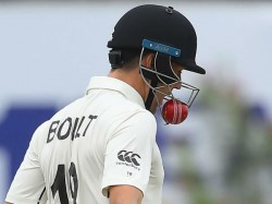 Ball Stuck Into The Helmet Of Trent Boult During Sri Lanka New Zealand Test Match
