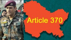 Dhoni Not Welcomed In Kashmir After Article 370 Removed