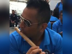 Dhoni Plays Flute Video Goes Viral