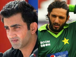 Afridi Gave An Attacking Reply To Gambhir Over His No Brain Comments