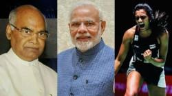 President Ramnath Govind Prime Minister Modi Wishes P V Sindhu