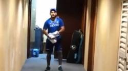 Rishabh Pant Practices Inside The Hotel Corridor With Kuldeep Yadav