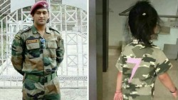 Dhonis Daughter Ziva Wearing Military Dress Like His Father Goes Viral