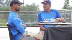 Ind Vs Sa Ravi Shastri Shared A Picture Of Chatting With Dhawan And Fans Troll Him