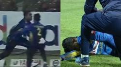 Sri Lanka Players Kusal Mendis And Snehan Jayasuriya Collide While Attempting Catch