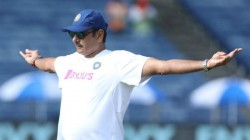 Ravi Shastri Poses With Hands Stretched And Fans Put Bottle And Chicken In His Hands