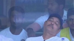 Ind Vs Sa Twitter Explodes In Laughter As Ravi Shastri Takes Nap During Match