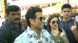 Sachin Tendulkar Mahesh Bhupati Casted Their Votes In Assembly Election