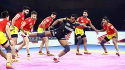Pro Kabaddi League 2019 Telugu Titans Vs Gujarat Fortunegiants 126th Match Result