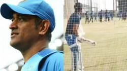 After World Cup 2019 Dhoni Again Starts His Net Practising