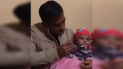 Ms Dhoni Feeding A Child On Annaprashana Goes Viral