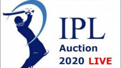 Ipl Auction 2020 Live Updates