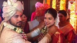 Manish Pandey Ashritha Shetty Marriage Photos
