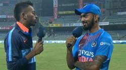 After 3rd T20i Against West Indies Hardik Pandya Interviewe Kl Rahul